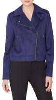 Catherine Malandrino Women's Faux Suede Moto Jacket