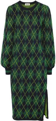Baum und Pferdgarten Metallic Argyle Stretch-knit Dress