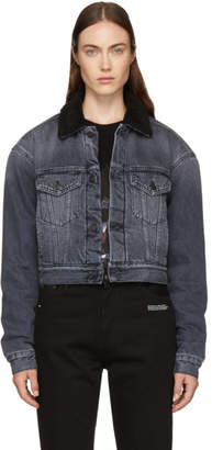 Marcelo Burlon County of Milan Black Denim Wings Jacket