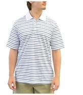 adidas Men's Climalite Dash Stripe Golf Polo Bright White/Lead/Rich Blue S
