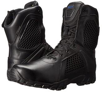 Bates Footwear Shock 8 Side Zip (Black) Men's Work Boots