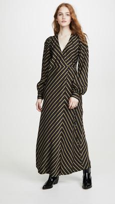 Ganni Viscose Stripe Dress