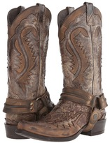 Stetson Snip Toe Harness Boot Cowboy Boots