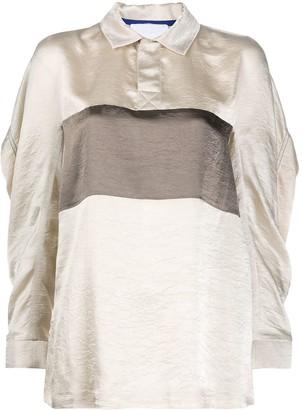 Koché Satin Panel Polo Shirt