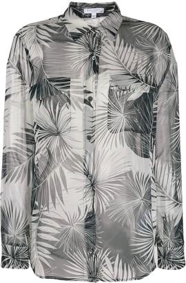 Equipment palm-leaf print shirt