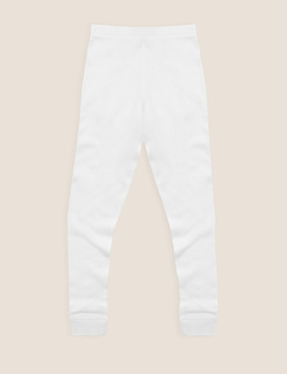 Marks and Spencer Thermal Cotton Ribbed Leggings (2-16 Yrs)