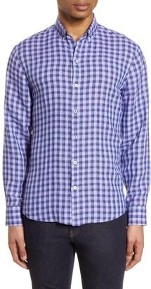 Zachary Prell Bonner Plaid Linen Button-Down Shirt