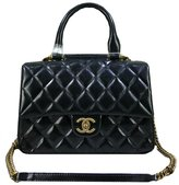 Chanel classic lambskin black oil Pique (bronze chain) handbags