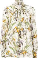 Alexander McQueen Wild Iris bow tie blouse
