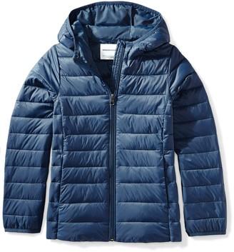 Amazon Essentials Little Girls' Lightweight Water-Resistant Packable Hooded Puffer Jacket