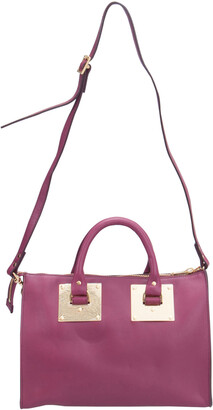 Sophie Hulme Fuchsia Leather Zip Bowler Bag