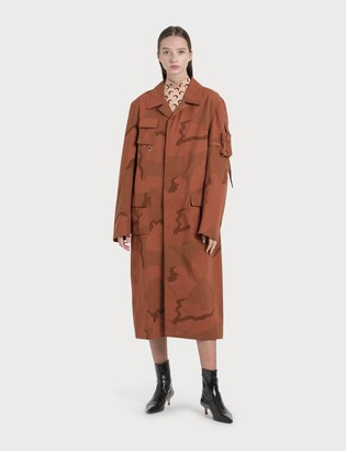 Marine Serre Regenerated Military Coat