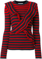 MSGM Maglia stripe knitted top