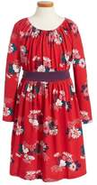 Tea Collection Kata Obi Floral Print Dress (Toddler, Little Girls, & Big Girls)