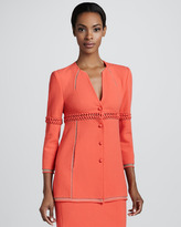 Ralph Rucci Wool Crepe Jacket, Coral