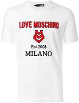 Love Moschino applique logo T-shirt - men - Cotton - S