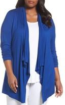 Sejour Plus Size Women's Open Front Cardigan