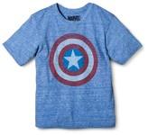 Marvel Boys' Captain America Graphic Logo T-Shirt