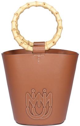 Miu Miu City Sport And Bamboo Leather Bucket Bag