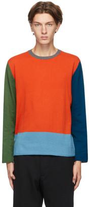Comme des Garçons Homme Deux Multicolor Colorblock Sweater