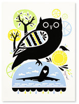 Amy Ruppel Owl Silk Screen Limited Edition Print