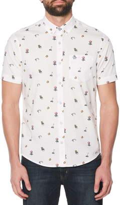 Original Penguin Dad Activity Print Slim Fit Woven Shirt