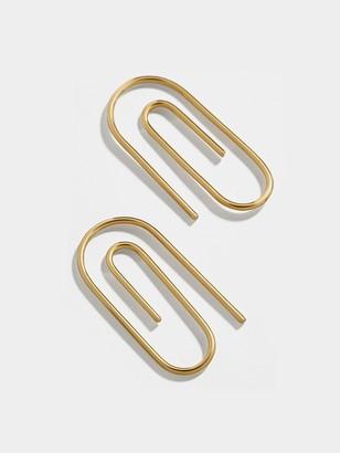 BaubleBar Clip 18K Gold Vermeil Hoop Earrings