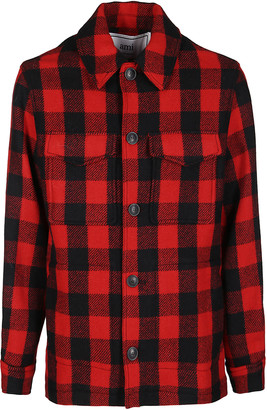 Ami Alexandre Mattiussi Black And Red Wool Jacket
