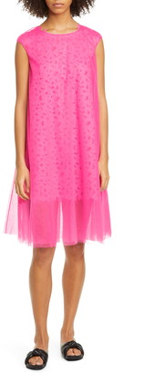 PASKAL clothes Laser Cut Butterfly Tulle Shift Dress