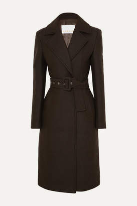 Remain Birger Christensen REMAIN Birger Christensen - Nima Belted Wool-blend Coat - Dark brown
