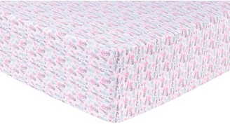 Trend Lab Pastel Painterly Floral Deluxe Flannel Fitted Crib Sheet