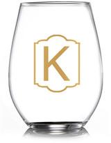 """Jay Import Monogram Gold """"K"""" Stemless Goblets - Set of 4"""