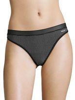 DKNY Grid-Print Thong Panties