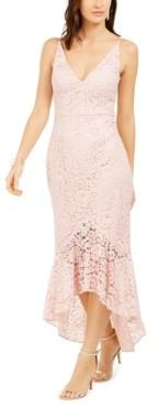 Brinker & Eliza Petite Lace Mermaid Gown