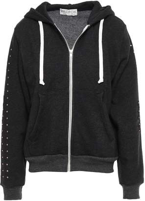 Wildfox Couture Crystal-embellished Cotton-blend Hooded Jacket