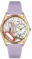 Whimsical Watches Women's C1010006 Classic Gold Shoe Shopper Lavender Leather And Goldtone Watch