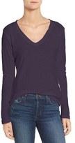 James Perse Women's Slub Cotton V-Neck Long Sleeve Tee