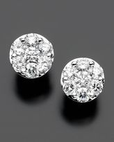14k White Gold Diamond Endless Stud Earrings (2 ct. t.w.)