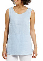 Preston & York Kimmy Round Neck Sleeveless Linen Blouse