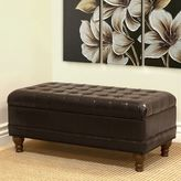 HomePop Faux-Leather Storage Bench