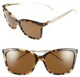 Kate Spade Women's 'Kasie' 55Mm Polarized Sunglasses - Havana/ Honey