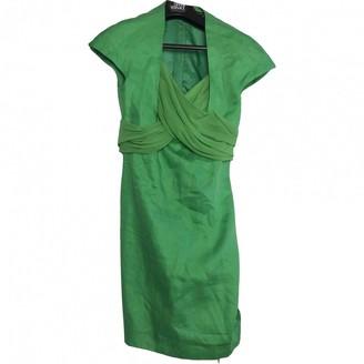 Gianni Versace Green Linen Dress for Women Vintage