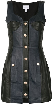 Alice McCall Leather Button Front Dress