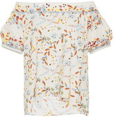 Peter Pilotto Printed Cotton Lace Top