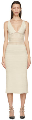 Valentino Beige Crochet Tank Top Dress