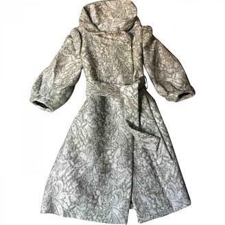 Zara Silver Wool Coat for Women