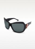 Signature Horsebit Plastic Oversized Sunglasses
