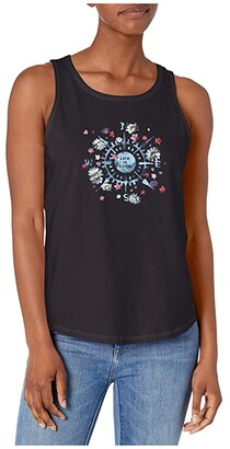 Life is Good Beauty In All Directions High-Low Crusher Tank Top (Jet Black) Women's Sleeveless