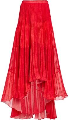 AMUR Deana Pleated High-Low Skirt