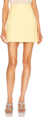Miu Miu Mini Skirt in Polline | FWRD